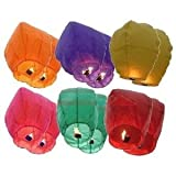 12 Premium SKY LANTERNS 40 Tall Hot Air Balloons - 6 ASSORTED COLORS