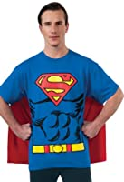 DC Comics Superman Costume T-Shirt With Cape by Rubies Costumes-Apparel