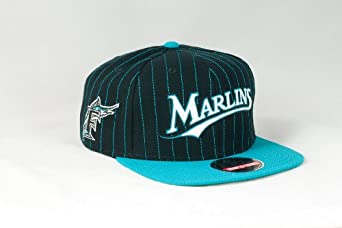 Red Jacket Florida Marlins Dotty Pin Cap Black by American Needle
