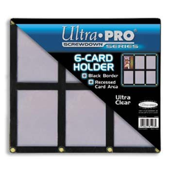 Ultra Pro UPSCR6CD Screwdown - Black & Clear Frame - 6-Card Black Holder (Card Display Frame compare prices)
