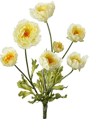ポピー 造花 ラナンキュラスブッシュ クリーム FB -2237CR