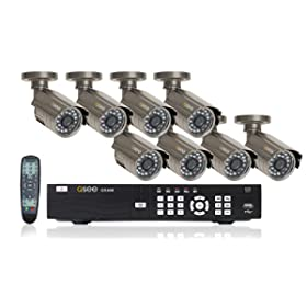 Q-See QS408-803-5 Precision Recording Security System with 8 Indoor/Outdoor CCD Cameras and Pre-Installed 500GB Hard Drive