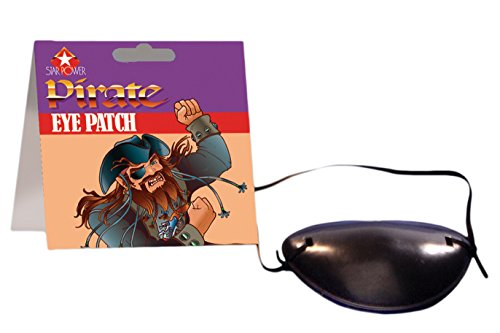 Star Power Swashbuckling Scallywag Pirate Eye Patch, Black, One-Size - 1