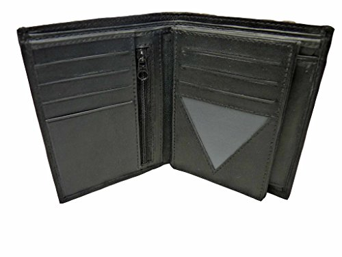 Mans-Giacca Blazer da uomo in pelle, a portafoglio verticale, 11 Roamlite RL23W porta carte di credito, Black No Gift Box (Nero) - RL23W