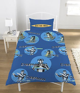 Official DOCTOR WHO CYBERMAN  Single Duvet Cover Bedding Set 100% GENUINE product