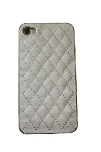 Grey Carbon Fiber Chrome Hard Case Cover for iPhone 4S (Compatible with Apple iPhone 4S iPhone 4)