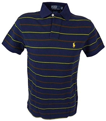 Polo Ralph Lauren Men'S Polo Shirt Custom Fit (S, Navy/Multi)