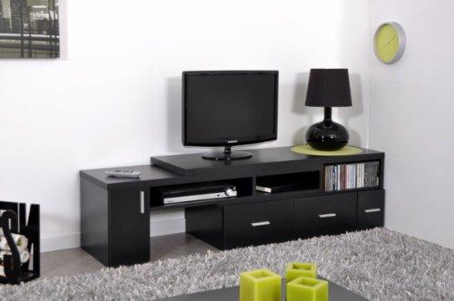 meuble tv noir pas cher. Black Bedroom Furniture Sets. Home Design Ideas