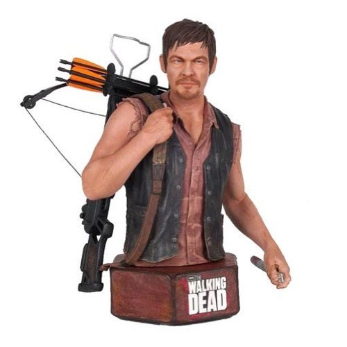 The Walking Dead Daryl Dixon Mini Action Figure Bust by Walking Dead (Walking Dead Mini Bust compare prices)