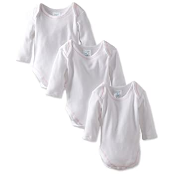 Set A Shopping Price Drop Alert For Spasilk 100% Cotton Long Sleeve Lap Shoulder 3-Pack Bodysuit