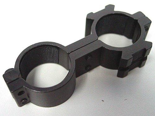 25mm Dual Hole Laser Sight Flashlight Scope Ring Mount