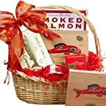 Smoked Salmon Seafood Assortment - Red Gourmet Food Gift Basket - Certified Kosher