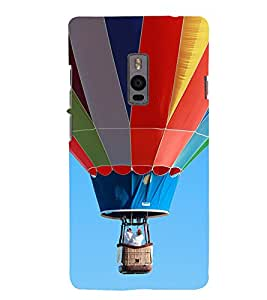 Multi Colour Hot Air Balloon 3D Hard Polycarbonate Designer Back Case Cover for OnePlus 2 :: OnePlus Two :: One +2