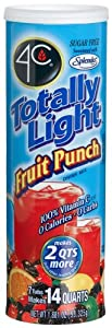 4C Totally Light Fruit Punch, Sugar Free, 7-Count Canisters(Pack of 4)
