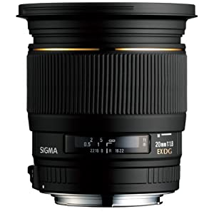 Sigma 20mm f/1.8 EX DF RF Aspherical Wide Angle Lens for Nikon SLR Cameras
