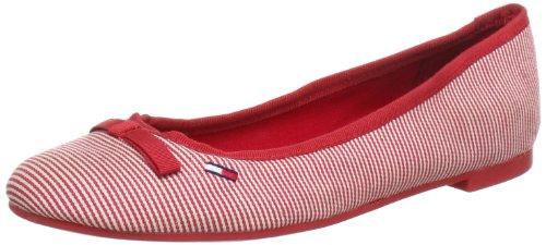 Hilfiger Denim ALLEN 16E Ballet Flats Women Red Rot (PINSTRIPE RED 641) Size: 6 (39 EU)