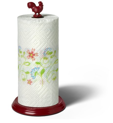 spectrum-37184cat-rooster-paper-towel-holder-red-by-spectrum