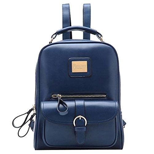 5f6f07289d37 Tinksky® Vintage Retro British Wind Shoulders Bag Fashion Girl s Student  Backpack School Bag (Blue) Review