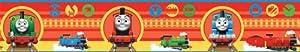 Fun4Walls CGI - Cenefa de papel pintado (13 cm aprox.), diseño de locomotora Thomas y sus amigos marca Fine Décor en BebeHogar.com
