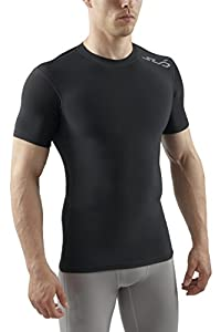 Sub Sports COLD Men's Thermal Compression Baselayer Short Sleeve Top - Small, Black