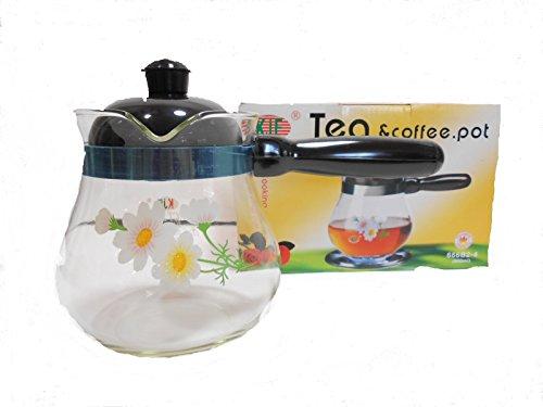 Kjf Glass Stovetop Coffee And Tea Pot With Handle