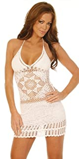 Handmade Beach Bunny Crochet Mini Dress - Medium/Large