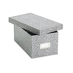 Oxford - Card File With Lift-Off Lid Holds 1200 4 X 6 Cards Black/White Paper Board \