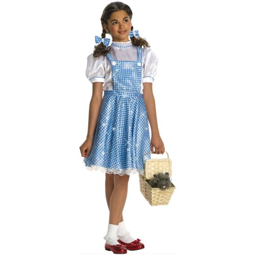 Deluxe Wizard Of Oz Dorothy Child Costume Size 12-14 Large