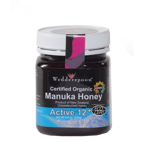 Wedderspoon Raw Organic Manuka Honey Active 12+, 8.8-Ounce Jar