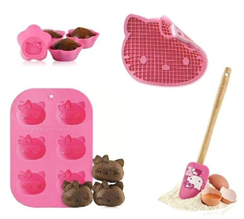 SiliconeZone Hello Kitty 9pc Silicone Cupcake & Muffin Baking Set