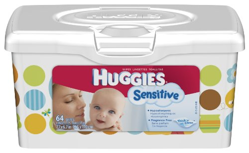 Huggies Gentle Care Sensitive Baby Wipes, 64-Count Popup Tub (Pack of 8)