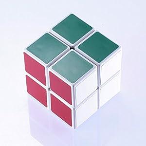 JohnsDollarStore 2X2X2 White Puzzle Magic Cube 6 Color