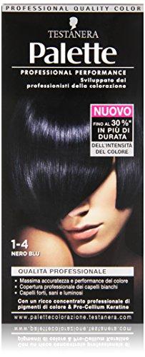 Testanera - Palette, Crema Colorante, 1-4 Nero Blu