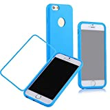 Queens® Flip Case for iPhone 6 5.5 inch,Scratch Resistant Flip Case Cover for Apple Iphone 6 5.5-inch Screen Full Scratch Protection and Hybrid Crystal Clear Front Anti-scratch Clearly Stylus Slim Fit Screen Protector, Smooth TPU Back Shel Shock-absorption Bumper Premium Cover Case for Apple Iphone 6 5.5 Inch (1-Blue Queens Flip Case for iPhone 6 5.5 inch)