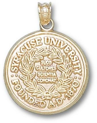 Syracuse Orangemen Official Seal Pendant - 14KT Gold Jewelry by Logo Art