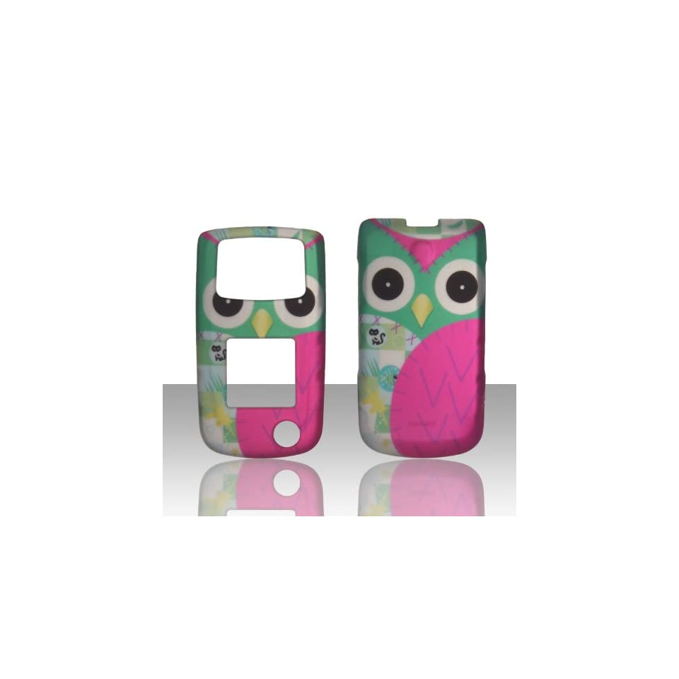 2D hot pink Owl Samsung SGH Rugby II 2 A847 AT&T Case Cover Phone Snap on Cover Case Faceplates Cell Phones & Accessories