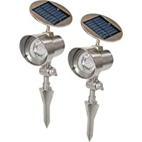 2-Pack Nature Power LED Solar Floodlights