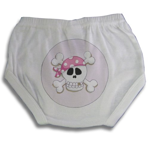 Light of Mine Designs Pirate Pink Diaper Cover/Panty Brief, Newborn