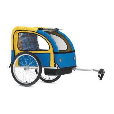 Torker Child Bicycle Trailer Blue Yellow Schwinn Cruiser