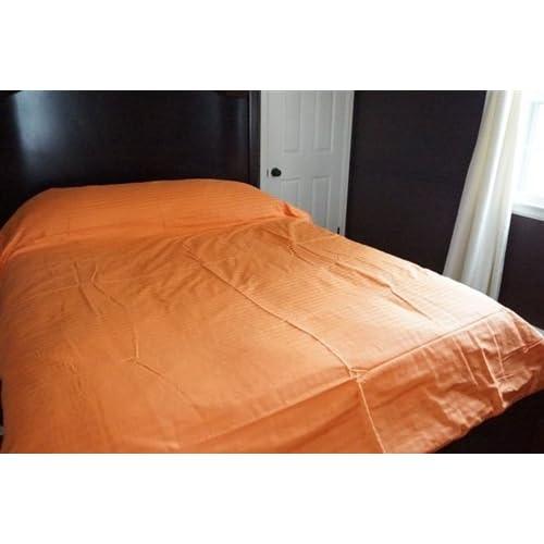 Amazon Com Bright Orange Twin Xl Duvet Cover 100 Cotton