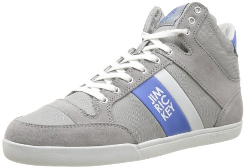 Jim Rickey Mens Carve Mid Suede Mesh Trainers