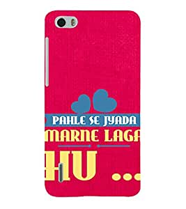Printvisa A Poetic Quote In A Red Background 3D Hard Polycarbonate Designer Back Case Cover For Huawei Honor 6