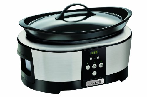 Crock-Pot Slow Cooker, 5.7 Litre, Polished Stainless Steel
