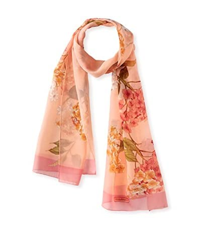 Salvatore Ferragamo Women's Floral Silk Scarf, Peach