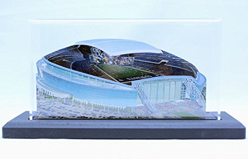 """Dallas Cowboys At&T Stadium 3D Replica 9"""" Version Display With Led Lights"""