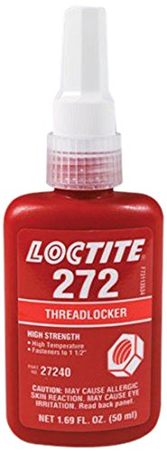 Loctite 88442 Red 272 High Temperature/Strength Thread Locker, 50 mL Bottle