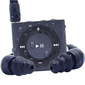 Waterfi 100% Waterproof iPod Shuffle Swim Kit with Dual Layer Waterproof/Shockproof Protection (Slate)