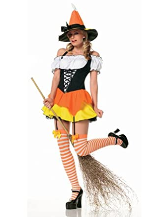 Legs Avenue Womens Candy Corn Witch Costume