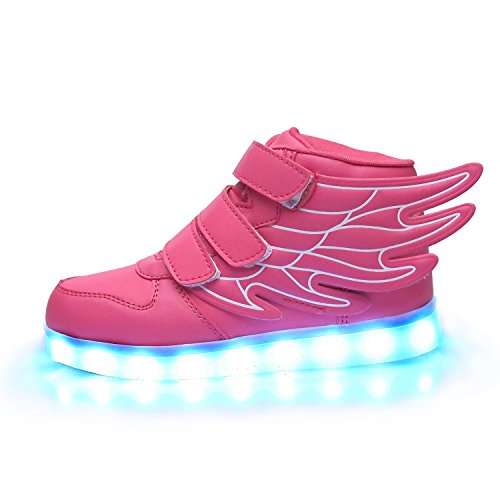 iTURBOS-SuperPegasus-Hover-Light-Up-Shoes-Light-Up-LED-Shoes-for-Kids-7-Static-3-Dynamic-Color-Modes-1-Strobe-Mode-Trendy-Rechargeable-LED-Sneakers-Charger-Included