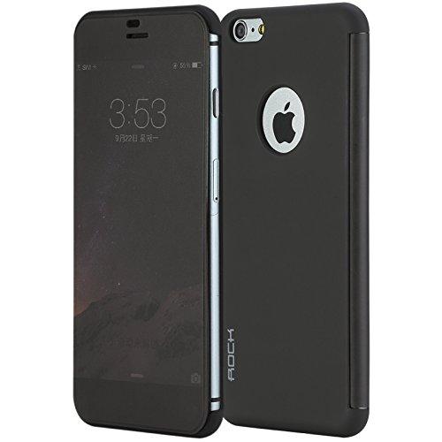 Rock DrV Smart UI View Touch Flip Case Cover For Apple iPhone 6 Plus 5.5 - Black